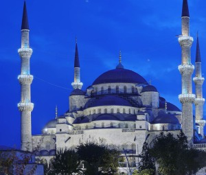 The Blue Mosque, in Istanbul