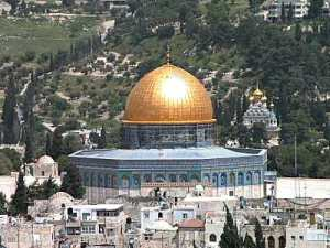 Dome of the Rock Mosque, atop Temple Mount in Jerusalem